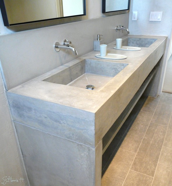 Concrete Vanities Contemporary Bathroom Vanities And Sink Consoles Salt Lake City By