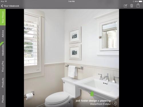 bathroom chair rail 2