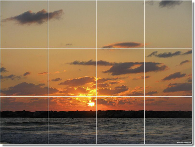 Sunsets photo custom tile mural 11 tile murals by for Custom mural tiles