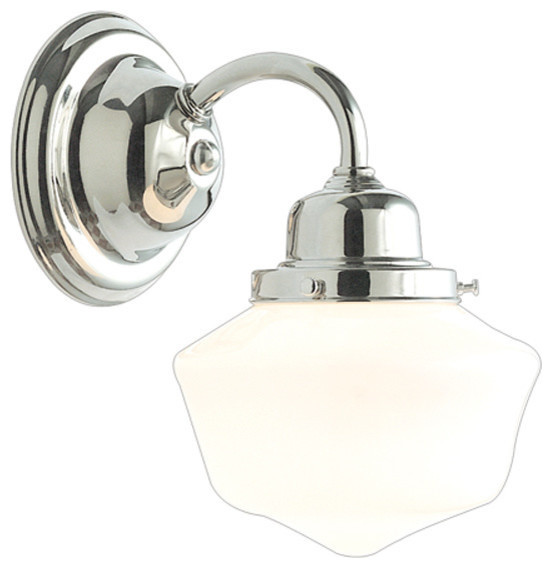 1 Light Bath Bracket Polished Nickel Transitional Bathroom Vanity Lighting By Elite Fixtures
