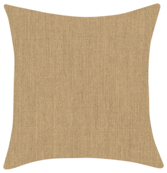 Beach Style Outdoor Cushions : Sunbrella Heather Beige Throw Pillow - Beach Style - Outdoor Cushions And Pillows - melbourne