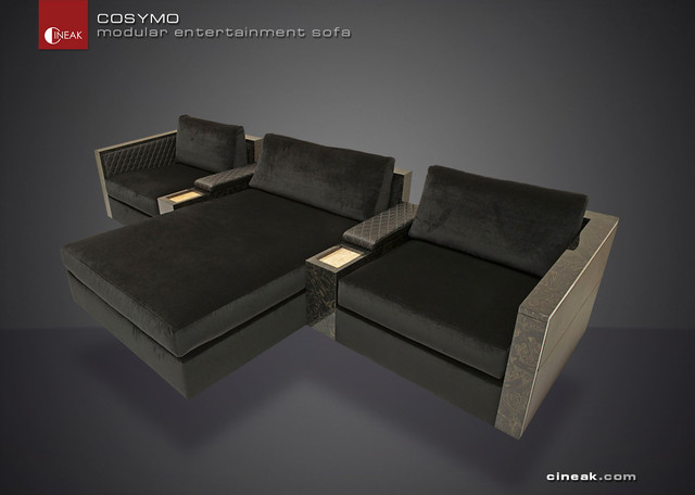 Media Room And Home Theater Sectional Sofa By Cineak Modular Sofas Other Metro By Cineak
