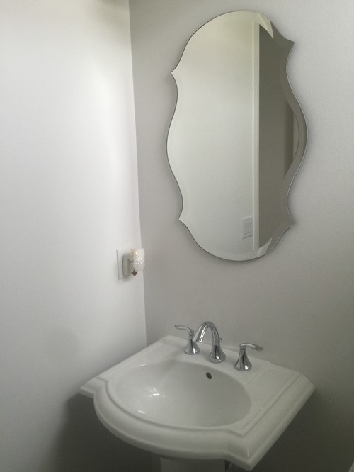 bathroom mirror size
