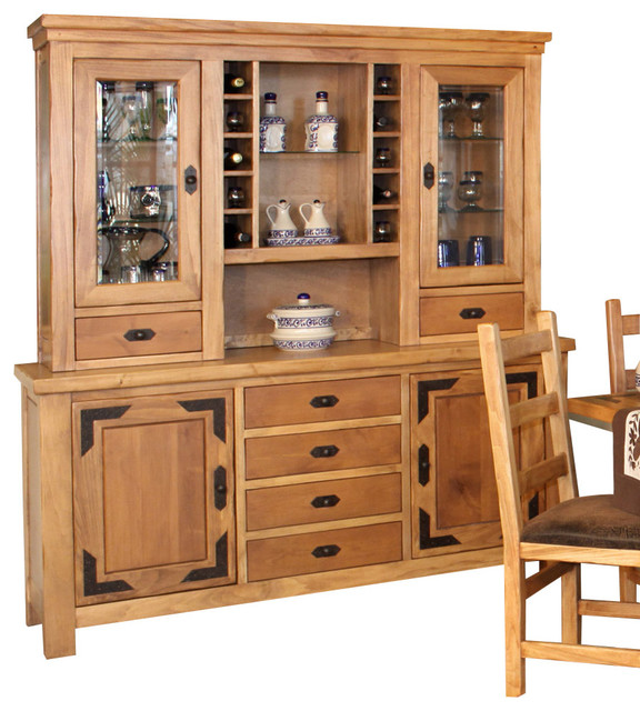 Artisan Home Lodge 100 70 Inch Buffet with Hutch - Traditional - China Cabinets And Hutches - by ...