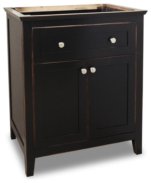 Lyn Vanity Aged Black Without Top Traditional Bathroom Van