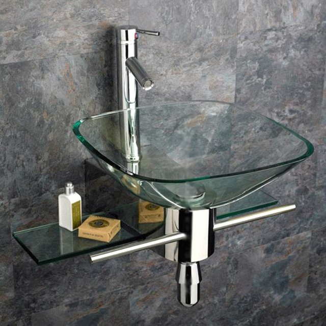 Vessel Vanity Sink Combo : ... Mount Vanity and Glass Vessel Sink Combo contemporary-bathroom-sinks