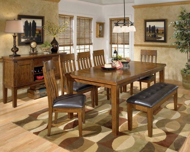 Ashley ralene dining room collection contemporary for Dining room tables houzz