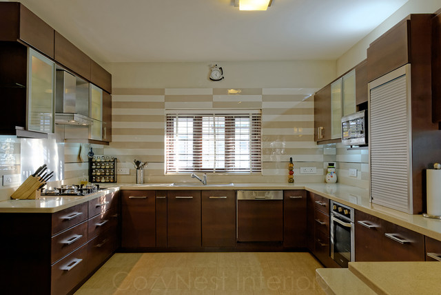 Kitchen Countertop Material Bangalore : Jaya & Rajesh - Contemporary - other metro - by CozyNest Interiors