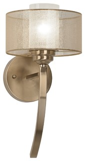 Possini Euro Alecia 8 Quot Wide Satin Brass Wall Sconce