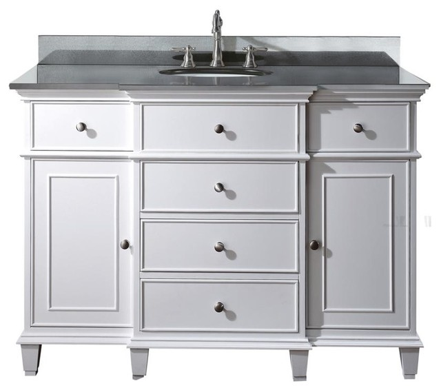 48 in vanity combo contemporary bathroom vanities and sink consoles