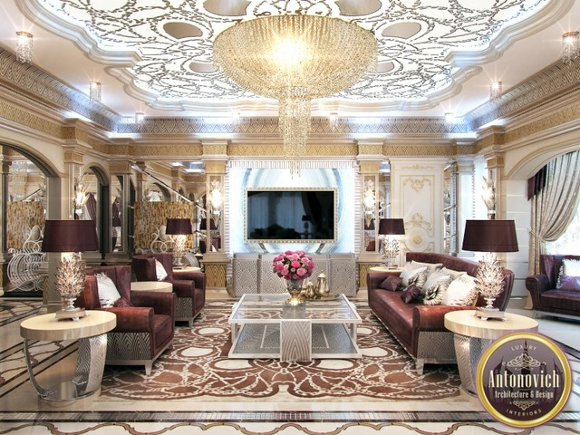 Arabic house design from luxury antonovich design - Decor oriental design interieur luxe antonovich ...