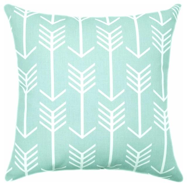Throw Pillows In Mint Green : Arrows Mint Green Pillow, 16