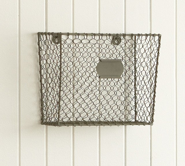 wire mesh wall mount magazine rack eclectic storage. Black Bedroom Furniture Sets. Home Design Ideas