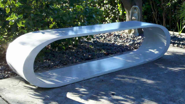 Custom Concrete Bench Contemporary Outdoor Products