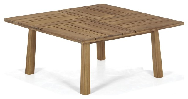 Side table basse de jardin en acacia huil contemporain for Table exterieur acacia