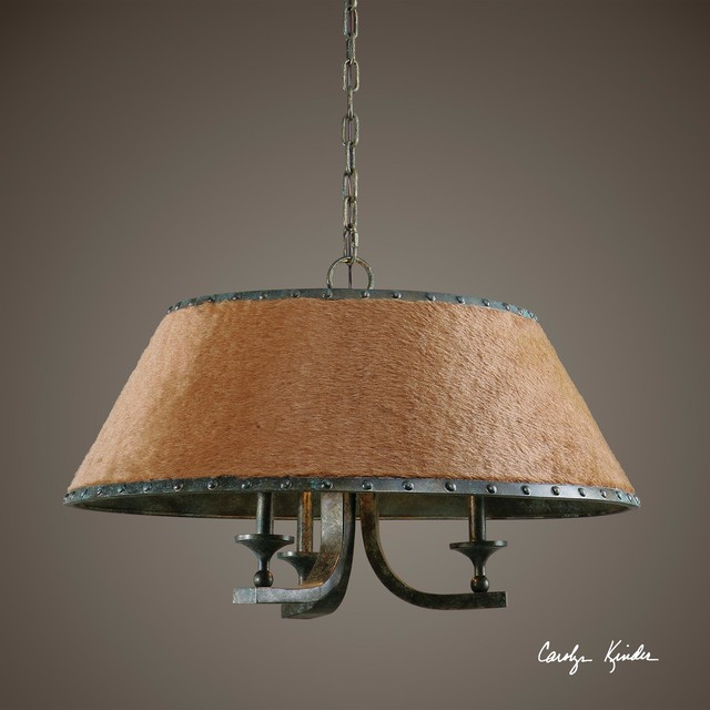 Uttermost Tundra Three Light Rustic Chandelier Contemporary Chandeliers By Beyond Stores