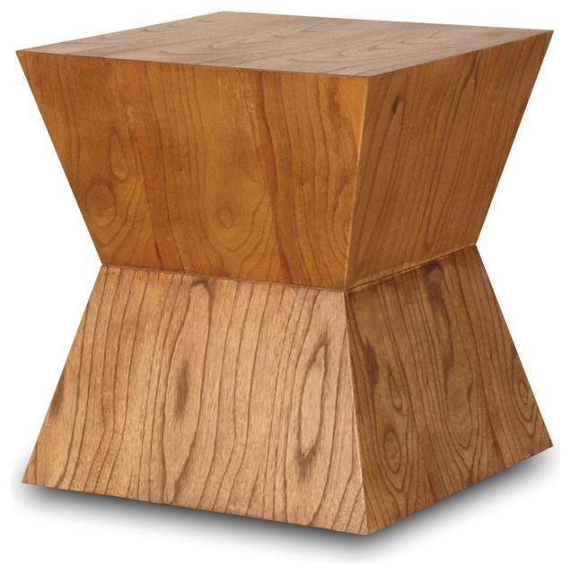 Solid Wood Accent Table Contemporary Side Tables And