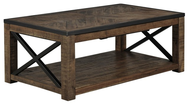 tillman rectangle lift top cocktail table rustic coffee tables los angeles by living spaces. Black Bedroom Furniture Sets. Home Design Ideas