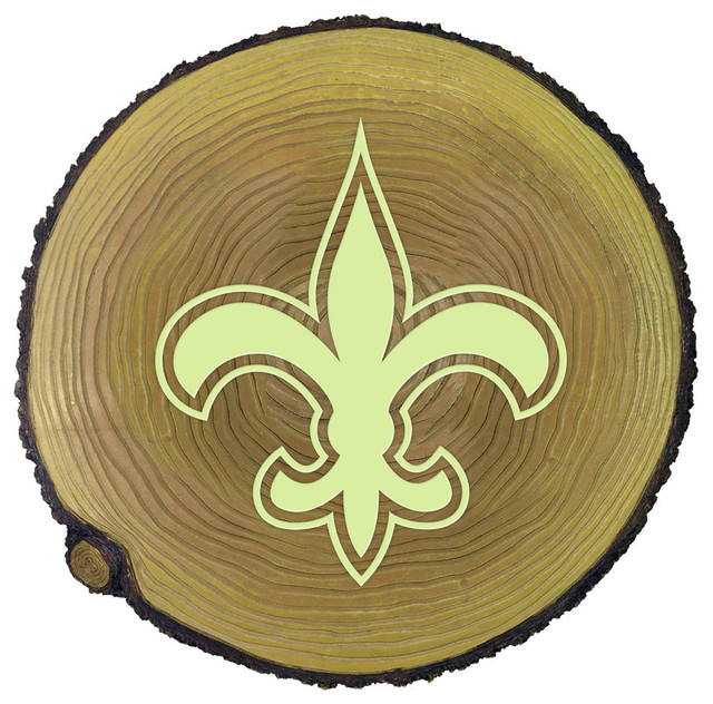 New orleans saints glow in the dark stepping stone stump for Landscaping rocks new orleans