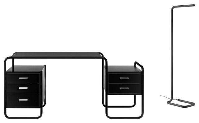 Aktion Thonet S 285 Schreibtisch + Steheuchte  BauhausLook
