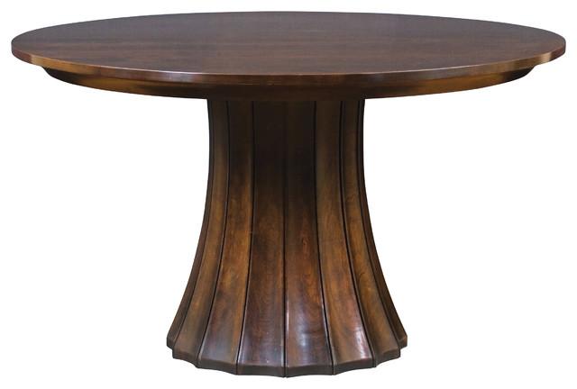 Stickley split base pedestal table 7685 52 2lvs for 52 kitchen table