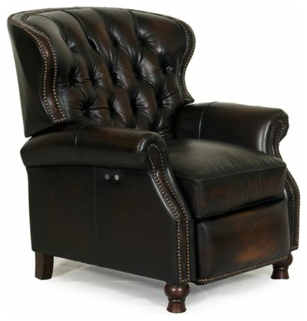 ... II Stetson Coffee Tufted Recliner contemporary-recliner-chairs