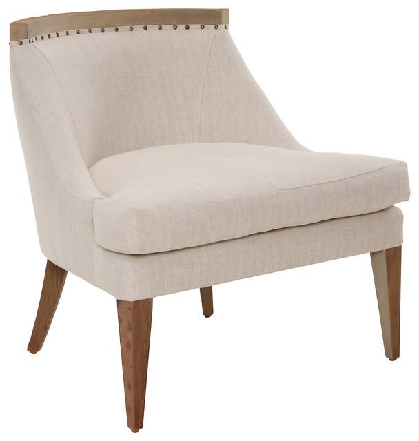 Sarah Linen Accent Chair Herringbone modern armchairs and