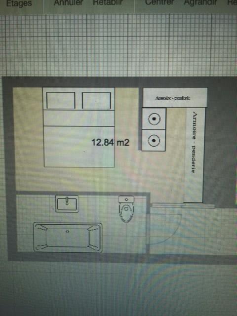 Optimisation chambre salle de bain dressing for Plan dressing salle de bain