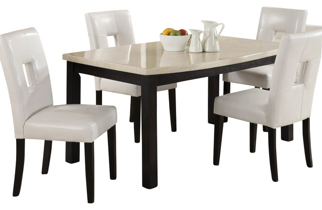 Archstone Dining Table With Faux Marble Top Traditional Dining Tables