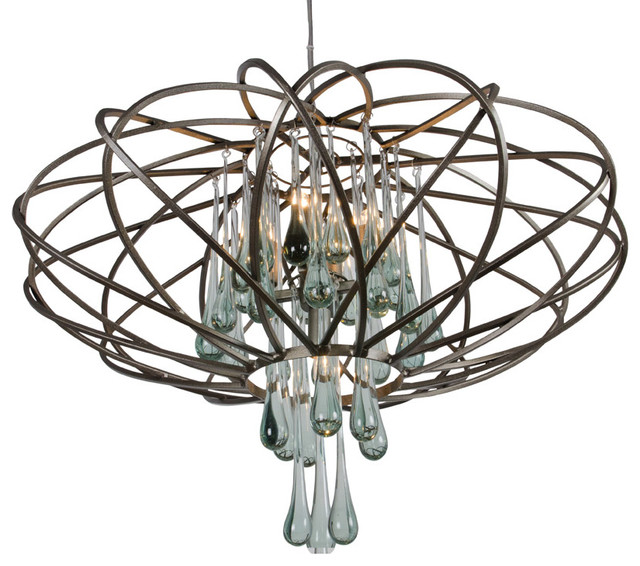 Varaluz 151C05NB Area 51 5 Light Pendants in New Bronze