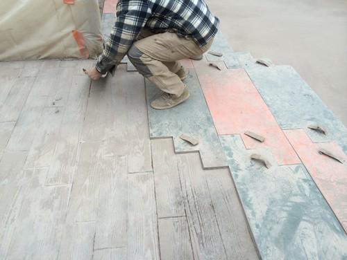 Terrasse en beton imprimé bois # Béton Imprimé Bois