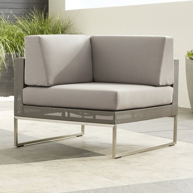 Dune Corner Chair with Cushions Contemporary Indoor