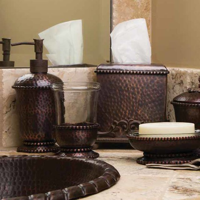 Antique copper bathroom accessories from the gg collection for The collection bathroom accessories