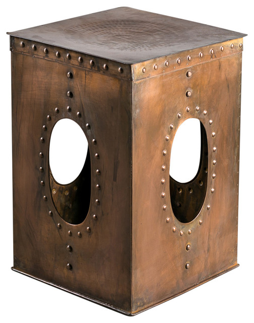 square rivet stool asiatique tabouret en c ramique. Black Bedroom Furniture Sets. Home Design Ideas