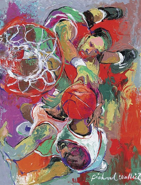 Basketball wallich wall mural contemporary wallpaper for Basketball mural wallpaper
