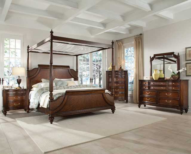 tranquil bay 5 pc eastern king canopy bedroom set beds