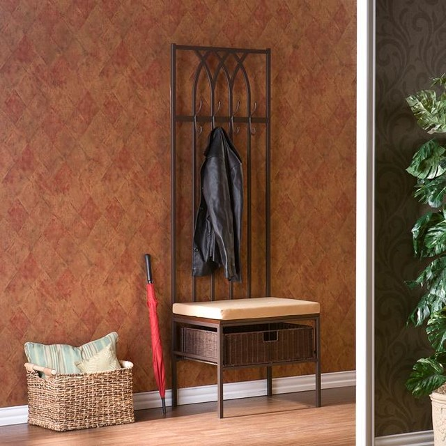 Overstock Foyer Bench : Upton home ovilla hall tree entry bench contemporary