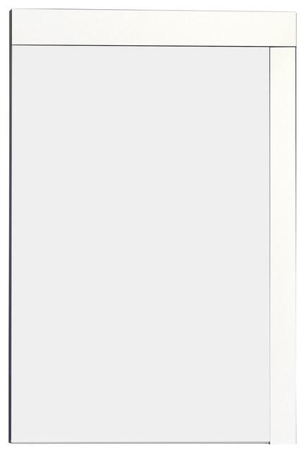 """Modern Plywood-Veneer Wood Mirror in White, 23.5""""x35.5"""" - Modern ..."""