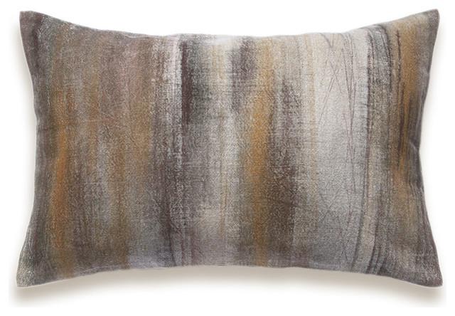 Burnt Orange Dark Chocolate Brown Beige Decorative Lumbar Pillow Cover 12x18 inc - Industrial ...