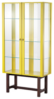 Stockholm Glass Door Cabinet, Yellow - Contemporary - Storage Cabinets - by IKEA