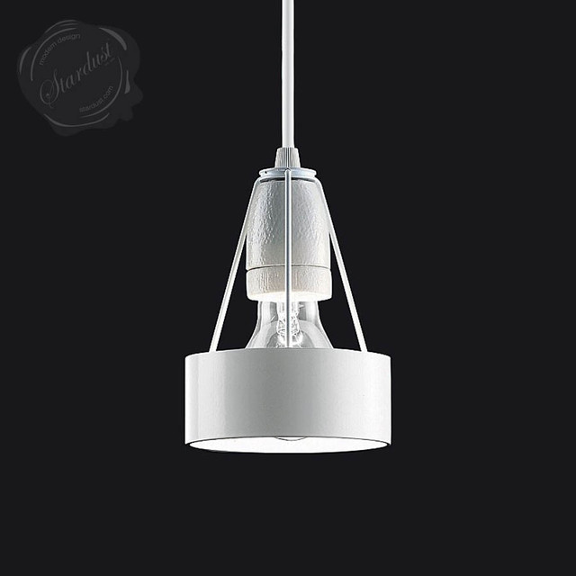 Minimal danish modern style white steel pendant light for Danish modern light fixtures
