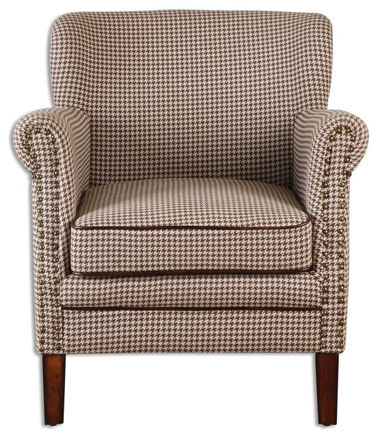 Houndstooth club chair contemporary armchairs and accent chairs