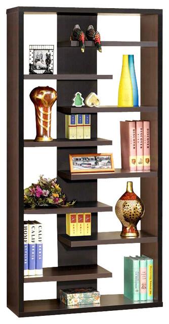35 In Asymmetrical Bookcase Contemporary Bookcases