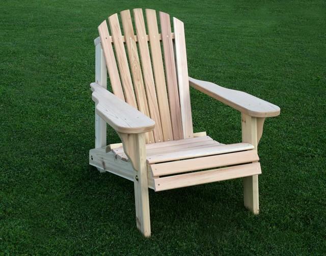 Creekvine Designs Cedar Wood 30L x 35W American Forest Adirondack Chair tradi
