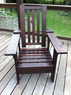 Thermally Modified Morris Style Adirondack Chair Contemporary Adirondack