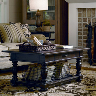 Paula Deen Down Home Coffee Table In Molasses Traditional Coffee
