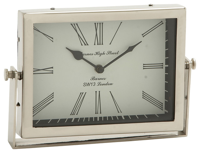 Classic & Exclusive Steel Table Clock Modern Desk And