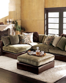 Sectional Armless Unit Traditional Sectional Sofas