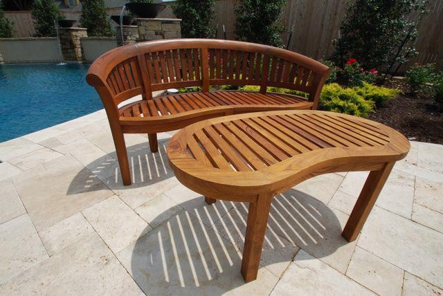 Teak Outdoor Furniture Traditional Outdoor Benches