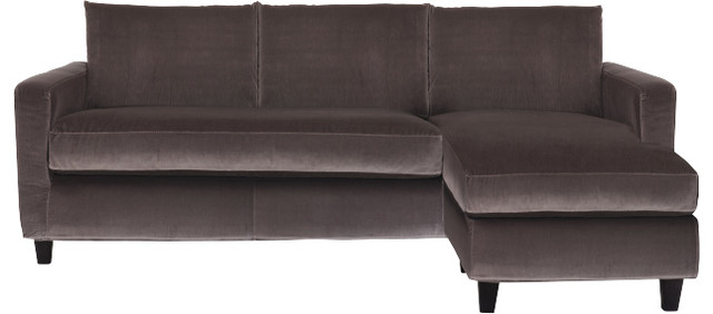 Chester canap d 39 angle r versible en velours contemporary sofas by - Canape angle reversible ...